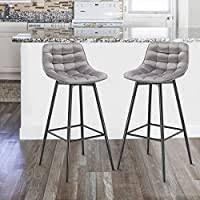WOLTU <b>Bar Stools</b> Set of <b>2 PCS</b> Soft Velvet Seat <b>Bar Chairs</b> ...