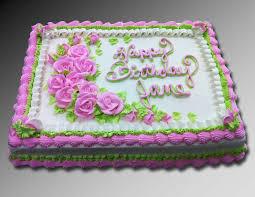 Pink Rose 1 2 Sheet Cake