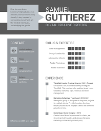 Creative Marketing Resume Infographic Resume Template Venngage
