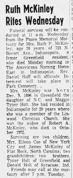 Ruth Pauline Holt (McKinley) obituary - Newspapers.com