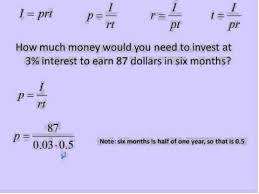 Simple Interest I Prt Simplifying Math Youtube
