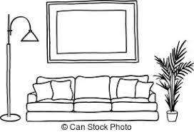 living room clipart black and white. black living room clipart and white v