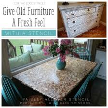 stenciling furniture ideas. give old furniture a fresh feel with stencil stenciling ideas r