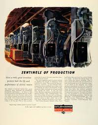 1945 Ad Cutler Hammer Motor Control Eutectic Alloy Overload Relay Wwii Fz6