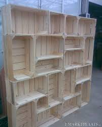 diy idea shelf out of crates awesome way to have modern decor