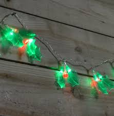 Christmas Berry Lights Uk 2 85m 20 Holly Berry And Leaf Led String Lights For Indoor Outdoor Use