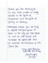 second page of thank you letter from valencia murphy to archbi thomas wenski after receiving a 500 heart of gift card