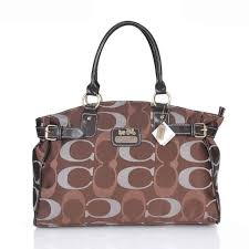 Coach Logo In Monogram Large Coffee Satchels ESL Will Never Make You  Disappointed Of Your Choice Ever!
