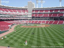 great american ball park section 141 view