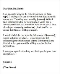 apology letter for delay in payment formal apology letters