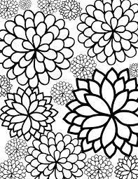 Free Printable Bursting Blossoms Flower Coloring Page Free