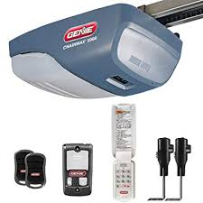 garage door opener. Contemporary Opener Genie ChainMax 1000 Garage Door Opener  34 HPc DC Chain Drive With  Two 3Button Preprogrammed Remotes Wall Console Wireless Keypad And  To D
