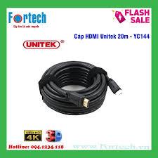 Cáp HDMI Unitek 20m Y-C144 - hỗ trợ 4K Ultra HD và 3D, giá chỉ 525,000đ!  Mua ngay kẻo hết!