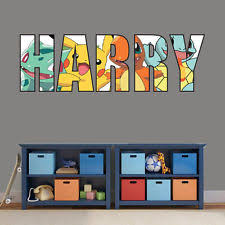 Amazing PERSONALISED NAME POKEMON TYPE WALL ART STICKER Kids Bedroom Boys Girls