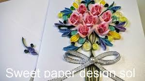 Paper Quilling Flower Bokeh Paper Quilling Flower Bouquet Card For Birthday Mothers Day Congratulations Wedding Anniversary Gift Home Decor