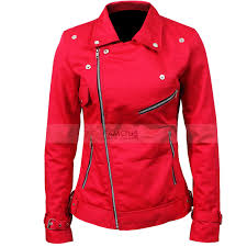 womens riverdale southside serpents cheryl blossom red cotton jacket2 jpg