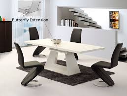 High Gloss Dining Table White Glass Dining Table And 4 Chairs On Extendable Glass Dining