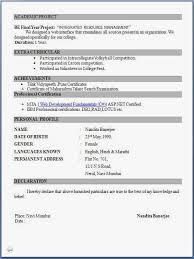 resume format pdf