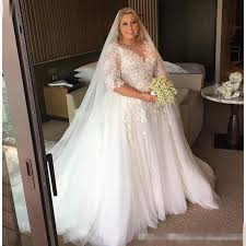 discount steven khalil 2017 arabic plus size wedding dresses sheer