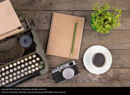 vintage typewriter on the old wooden desk a royalty free stock photo from photocase