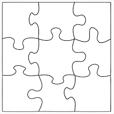 Printable Jigsaw Puzzle Maker Puzzle Template Blank Puzzle Template Free Premium