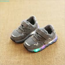2018 New brand cool European colorful lighting kids shoes high ...