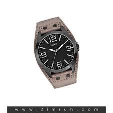 buy original guess watch for men black dial w taupe leather cuff original guess watch for men black dial w taupe leather cuff strap u0181g3