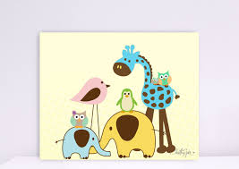 baby zoo animals nursery. Contemporary Nursery Baby Zoo Animals Nursery Blue Green Yellow Pink Brown Animal Pattern Fancy  Adorable Wall Sticker My Big Happy Family Giraffe Elephantu2026 And Baby Zoo Animals Nursery