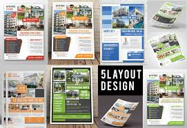 25 real estate flyer psd templates graphic cloud house for template