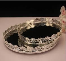 Decorative Metal Serving Trays Diameter6060cm metal round serving tray silver tray decorative 28