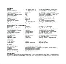 Example Of An Acting Resume Actors Resume Examples Acting Resume ...