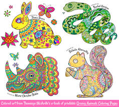 Groovy Animals Coloring Pages