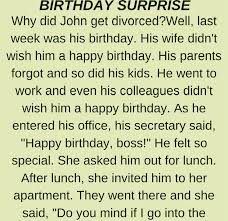 BIRTHDAY SURPRISE FUNNY STORY Delectable Funny Istory