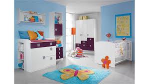SKATE Kinderzimmer in Weiß und Lila 3-teilig