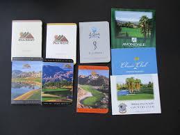 unused golf score cards 9 ca desert gems great collectible set ebay