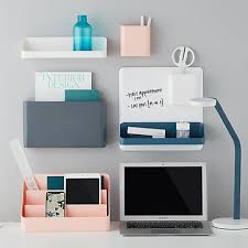 Office desk with shelf Solid Wood Poppin Wall System The Container Store Office Organization Home Office Storage Desk Organizers The