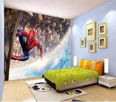 climbing spider man 3d full wall mural