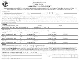 Burger King Employment Application Form Subway Application