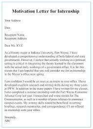 4 Free Sample Motivation Letter For Internship Templates