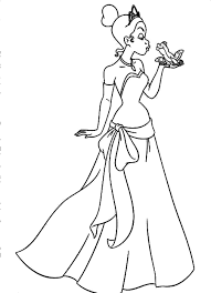 Printable Princess Tiana Coloring Pages Coloring Me Princess