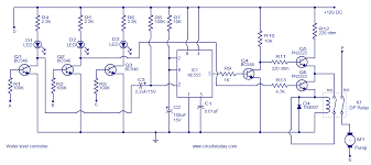 water level controller circuit using transistors and ne timer ic water level controller circuit diagram