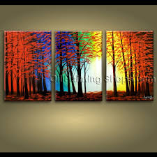 large wall art hand painted abstract landscape sunset tree road within recent extra large abstract wall