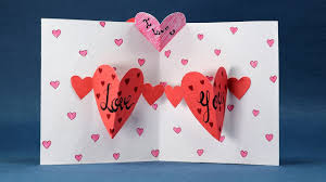 valentines days cards happy valentines day card diy pop up heart card step by step