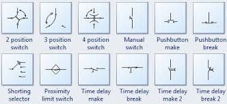 standard circuit symbols for circuit schematic diagrams more switch symbols relay symbols