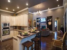 open ranch style house plans kitchens