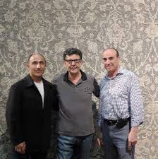 david neishabori of azadi fine rugs in scottsdale max moussavi of art resources and harry messerian of messerian oriental rugs in pasadena pose with an