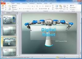 Animated Ppt Templates Free Download For Project Presentation Animated Robot Powerpoint Template For Manufacturing Presentations
