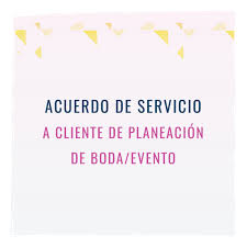 wedding planning contract templates wedding planner contract template in spanish acuerdo de servicio