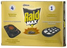 Купить <b>Приманка Raid</b> Max от <b>тараканов</b> (4 шт.) по низкой цене с ...