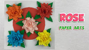 Paper Art Flower Diy How To Make Rose Paper Easy Origami Flowers For Beginners
